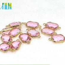 12 teile / beutel Kupfer Stecker Anhänger mit Kristallglas Perlen für DIY Schmuck Machen Armband Ohrring 13x18mm CA002