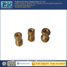 Customized CNC machining brass stud bolt and nut