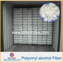 Material de plástico leve Reforço de concreto PVA Fibras