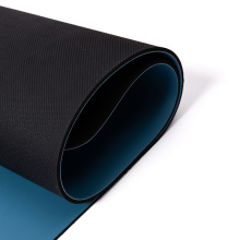 custom print extra large size eco friendly  solid color black two  double layer yoga mat pu rubber natural gym mat