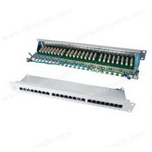 24 portas STP Cat6 Patch Panel cinza, LSA IDC