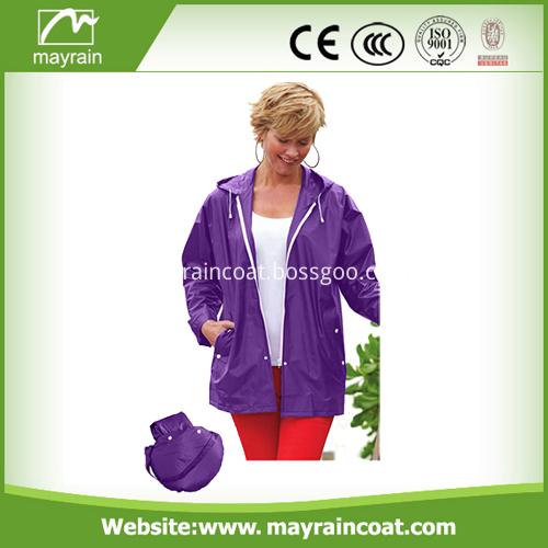 Ladies PVC Waterproof Jacket