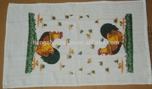 custom kitchen towel with screen printing