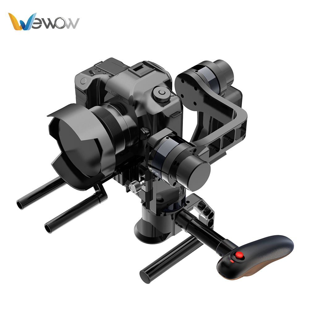 Wewow الأصلي 3-axis فرش dslr استقرار