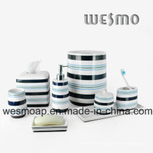 Porcelain Bathroom Set with Decal (WBC0704A)