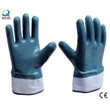 Twice Dipped Oil Proof Nitrile Gloves Safety Industrial Work Glove (N6001)