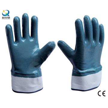 Duas vezes mergulhado óleo à prova de luvas de nitrilo luva de trabalho de segurança (N6001)