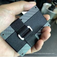 Monedero de fibra de carbono Estuche para tarjetas Monedero con clip de dinero