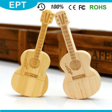 Woode Guitar Shape Personalizar Logo USB Flash Drive (TW071)