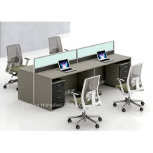 Modern Straight Office High Partition with Glass Aluminium Frame (HF-YZQ325)