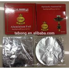 Saludable y conveniente cortar la hoja de shisha redondo / Shisha hojas de aluminio para fumar