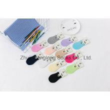 Sugar Color Sweet Summer Mesh Girl Cotton Socks with Gripper in The Heel