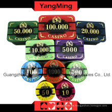 Chip de póquer de alto grado del cuervo fijado (760PCS) Ym-Lctj003
