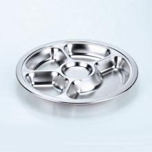 runder dreiteiliger edelstahl silber serviert lunchbox für die schulkantine