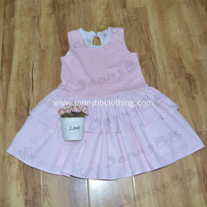 Baby Girl Pink Stripe Princess Dress