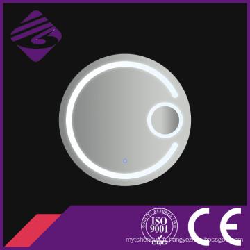 Jnh191 rond miroir grossissant de salle de bains de LED pour l'hôtel avec des lumières