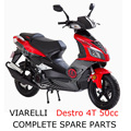 Vario Destro 4T 50cc Scooter Part Complete Parts