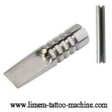 Agarre profesional del tatuaje de la magnum del acero inoxidable 316L con la extremidad y el tubo ranurado