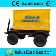 CE approved china manufacturer Yuchai 100KW trailer generator