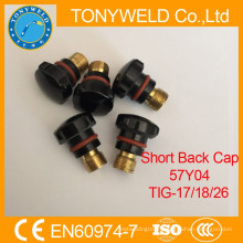 TIG welding torches spares parts short back cap 57Y04