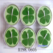 Lucy Four Leaf Clover candela Tealight colorata bel regalo