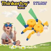 Bloco de construção educacional plástico para o brinquedo da instrução dos miúdos 3-6