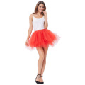 Kate Kasin suave red de tul rojos crinolina enaguas enaguas para retro vintage vestido KK000447-3