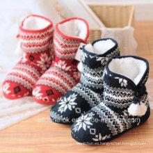 Calcetines de las botas de los zapatos interiores del invierno de las mujeres hechas punto de encargo del OEM