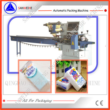 Swsf-450 High Speed Sponge Foam Automatic Pillow Bag Wrapping Packing Machine