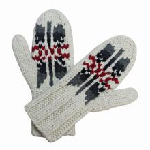 Guantes calientes de invierno hechos punto de señora Fashion Wool Nylon (YKY5418)