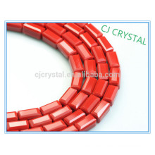 glass beads for decorating,rectangle siam beads