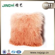 Vente chaude Gradient Couleur fourrure d'agneau mongol décoratif Coussins