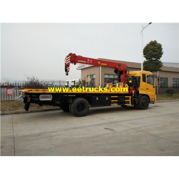 Dongfeng 10ton Tow Truck Wreckers con grúas