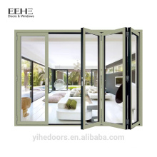 Portas deslizantes de dobramento de alumínio da fábrica de Foshan / porta de alumínio pesada