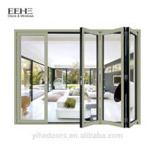 Фошань завод Алюминиевые складные раздвижные двери / тяжелые алюминиевые двери