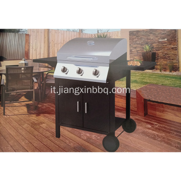 Barbecue a gas a 3 fuochi Barbecue all'aperto