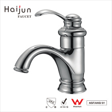 Haijun Popular Items Artistic Bathroom Deck Mounted Brass Basin Mixer Faucets