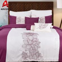 100% polyester 7pcs comforter set,75gsm microfiber comforter set for adult