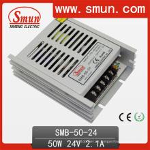Fuente de alimentación de conmutación de caja plástica de 50W 24V2a