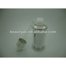 40ml bouteille de cosmétiques à l'huile essentielle acrylique bouteille de compte-gouttes acrylique essentielle, bouteille à gazon pour soins de la peau