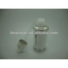 40ml garrafa acrílica do óleo essencial acrílico garrafa essencial do conta-gotas do acrílico, frasco do conta-gotas do cuidado de pele