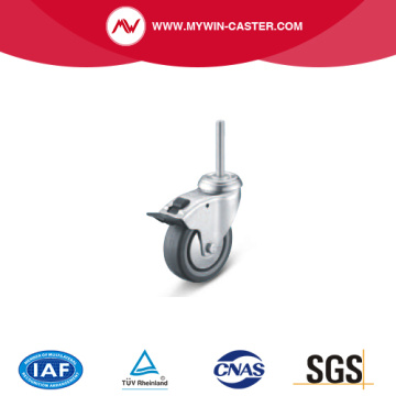 Brake Threaded Stem Swivel TPE Institucional Caster