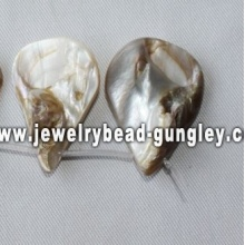 natural drop shape freshwater shell beads