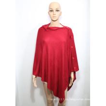 Dame Fashion Acryl Gestrickte Knopf Schal (YKY4405-1)
