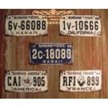 Kfz-Kennzeichen mit Retro-Technologie Dekorative Kfz-Kennzeichen Fahrzeug Kennzeichen Deisgn