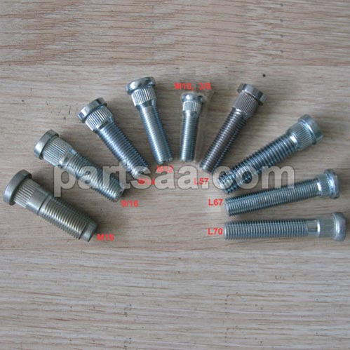 knurled studs for wheel spacer