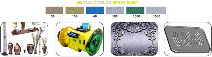 metallic finish spray paint color