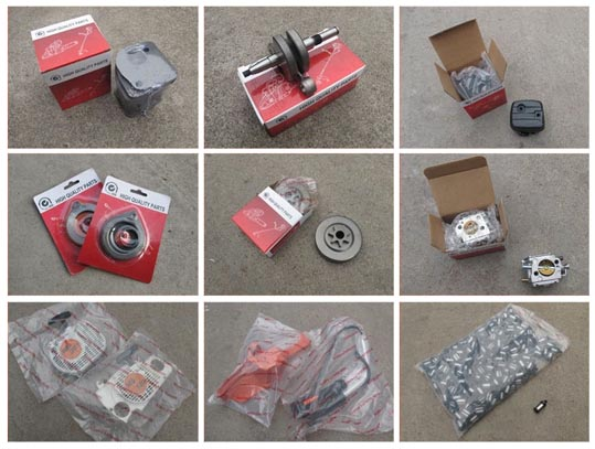 chainsaw and brush cutter spares package