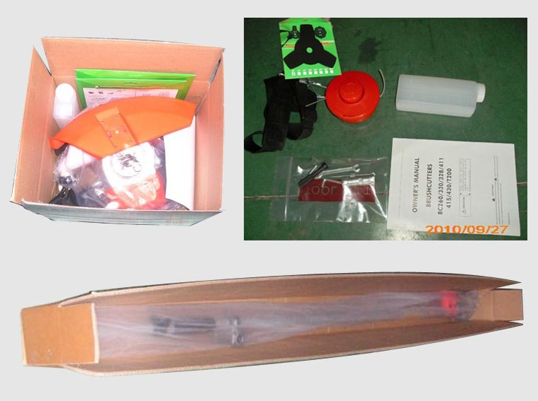 grass trimmer and brush cutter package