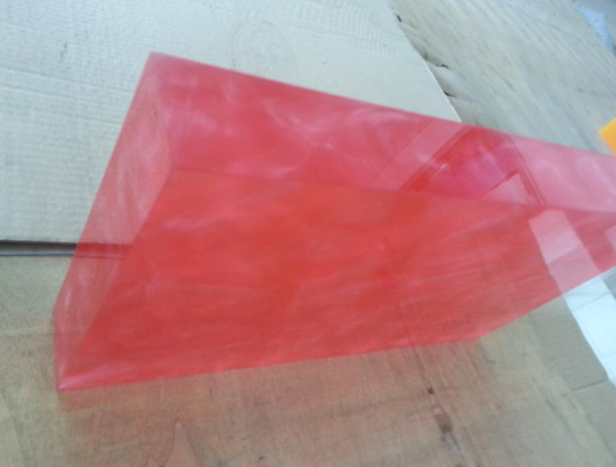 Square Colored 5mm Thin Marble Acrylic Sheet , High Gloss Acrylic ...